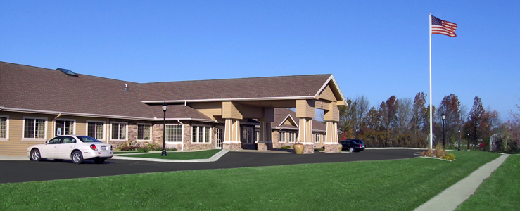 Urbana assisted living has a Beautiful exterior