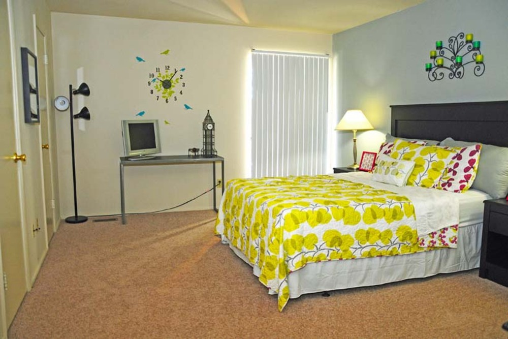 Bedroom inside Ferguson Missouri Apartments