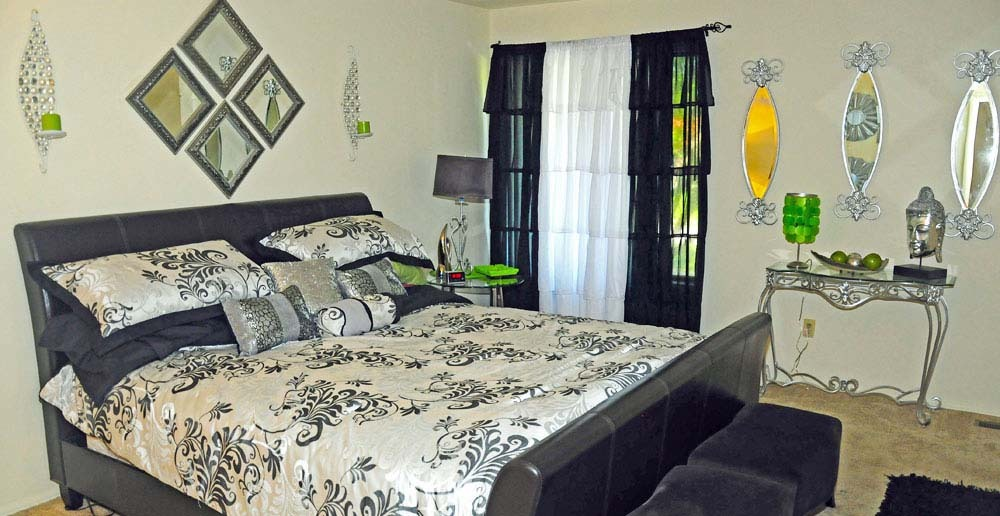 Ferguson Missouri Townhomes feature beautiful bedroom