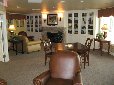 Living area at Katy assisted living