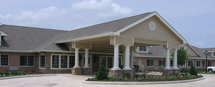 Katy assisted living has a Beautiful exterior