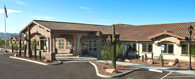 Tucson assisted living has a Beautiful exterior