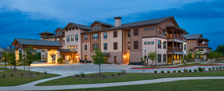 Cedar Park assisted living has a Beautiful exterior