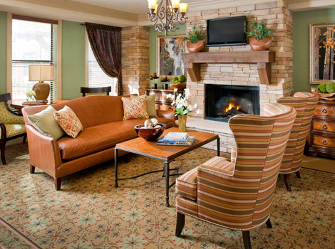 Warm decor of Bryan assisted living