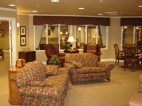 Comfortable furnishings at senior living in Springfield IL