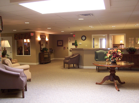 Spacious interior of Springfield assisted living IL
