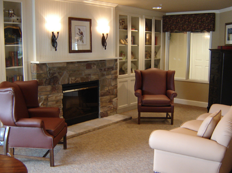 Springfield assisted living has a Warm decor