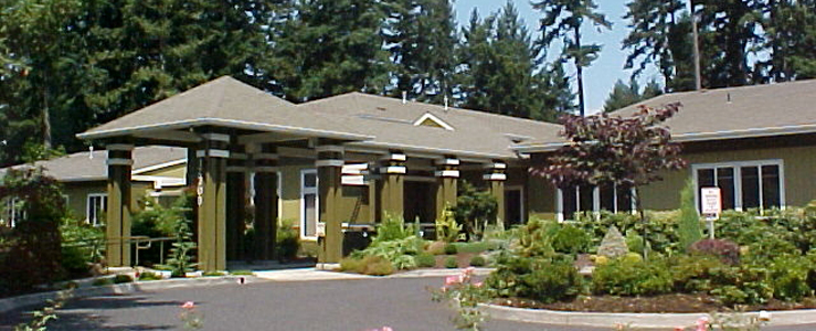 Beautiful exterior of senior living in Portland OR