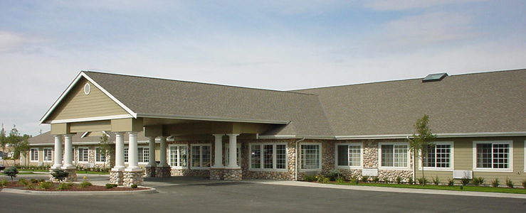 Moses Lake assisted living has a Beautiful exterior