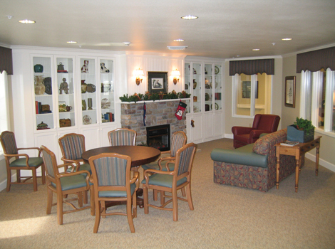 Living room at Redding assisted living
