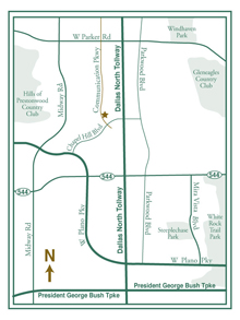 Accel at Willow Bend area map of Plano