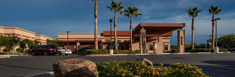 Landscaped facility at senior living in Mesa AZ