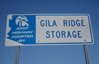 Gila Ridge Storage Adopt A Highway