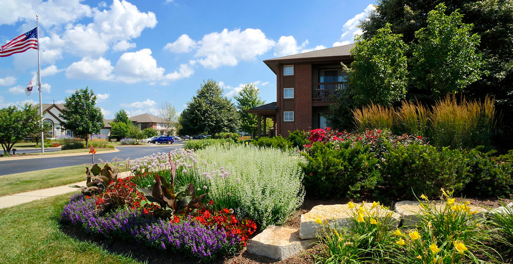 Aurora apartments has Vibrant plantlife