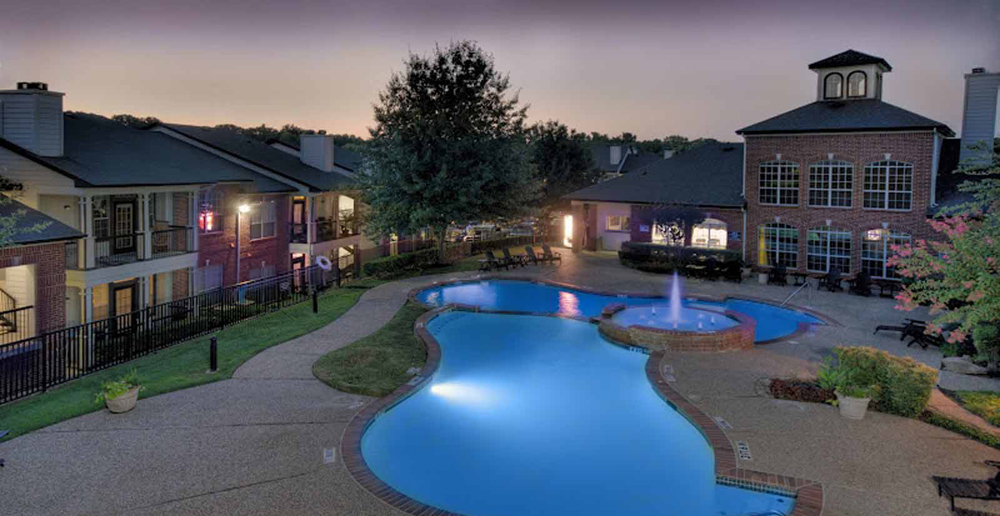 Luxurious pool at McKinney apartments TX