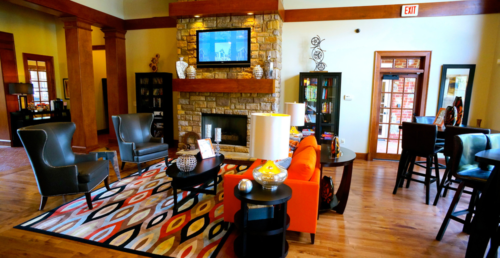 Clubhouse interior at Buford apartments