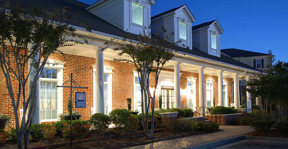 Landscaped exterior of Atlanta apartments GA