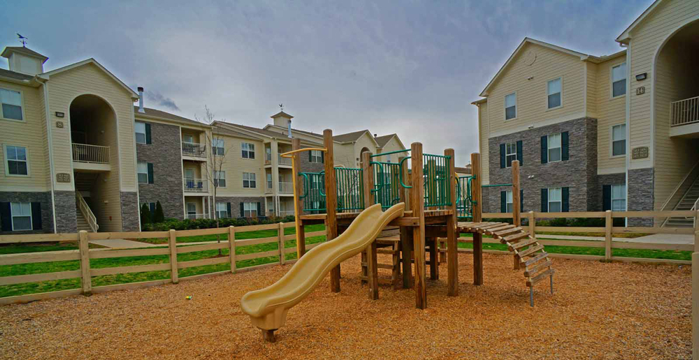 Gated playground at Murfreesboro apartments
