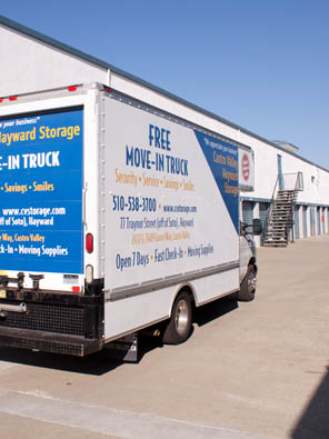 Free Move-in Truck at Castro Valley Hayward Storage
