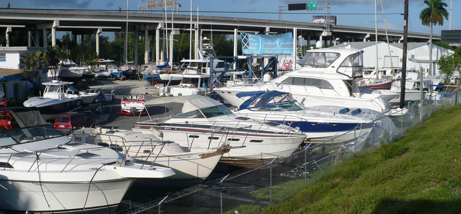 Docked boats in Ft Lauderdale Florida marina