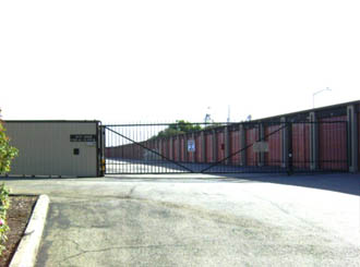 Salinas self storage gated entrance