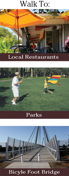 Glenbrook Apartments is a short walk to a variety of places in the neighborhood.