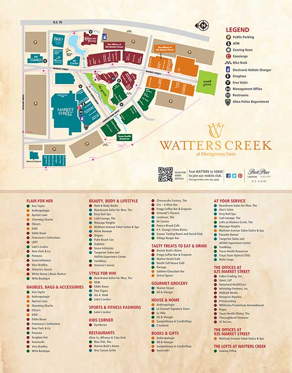 Restaurants and Shops near The Lofts at Watters Creek in Allen
