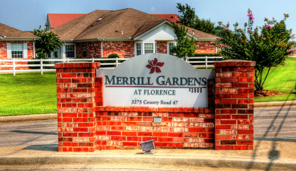 Entrance sign to Florence assisted living
