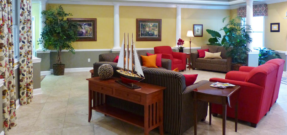 New community lobby at senior living in chatanooga