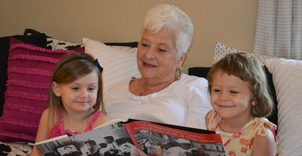 Grandchildren visit at senior and disabled living in Tucson