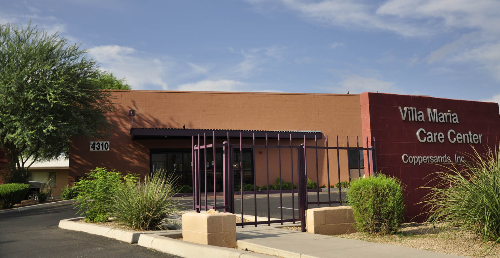 Exterior of the building at senior living in Tucson