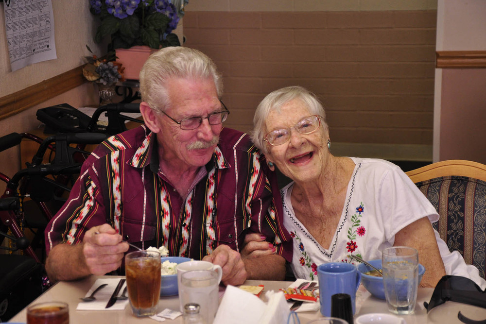 Happy couple at senior living in Tucson