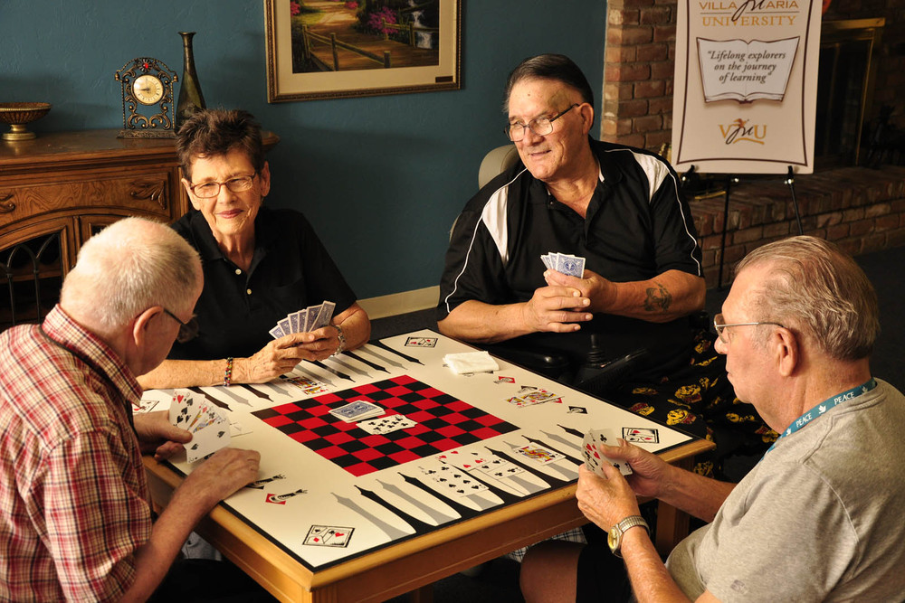 Playing cards at Tucson senior living
