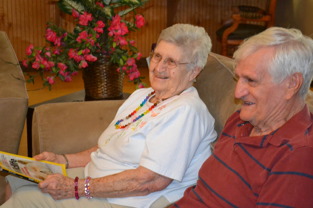 Happy couple at senior living in Mesa