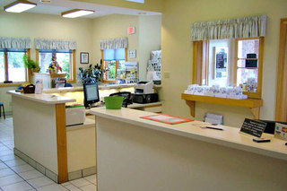 Benton harbor veterinary hospital entrance lobby