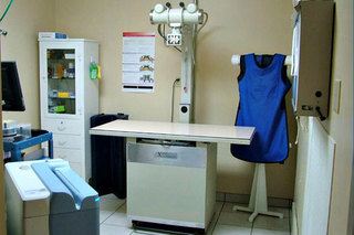 Radiology room at benton harbor animal hospital