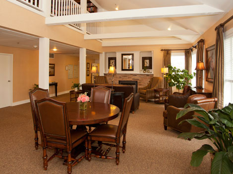 Senior living in Tumwater features a formal visiting room