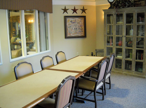 Activity room at memory care in Dardenne Prairie