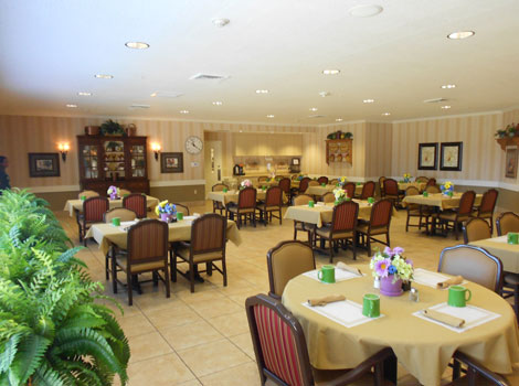 Dining room at Dardenne Prairie memory care