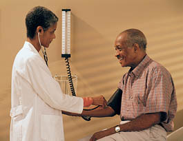 Doctor and patient at Middleton senior living