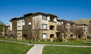 Exterior grass at apartments in Riverside, California