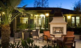Entertain around the fire pit in at apartments in Riverside, California