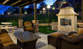 Outdoor fireplace in Riverside