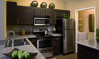 Large kitchen at apartments in Riverside