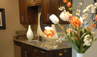 Kitchen flowers  at apartments in Fair Oaks
