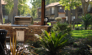 Barbecue at apartments in Fair Oaks, California