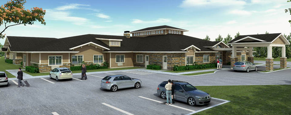 cascadia senior living community rendering