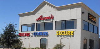 The exterior of the self storage office in Waco,TX