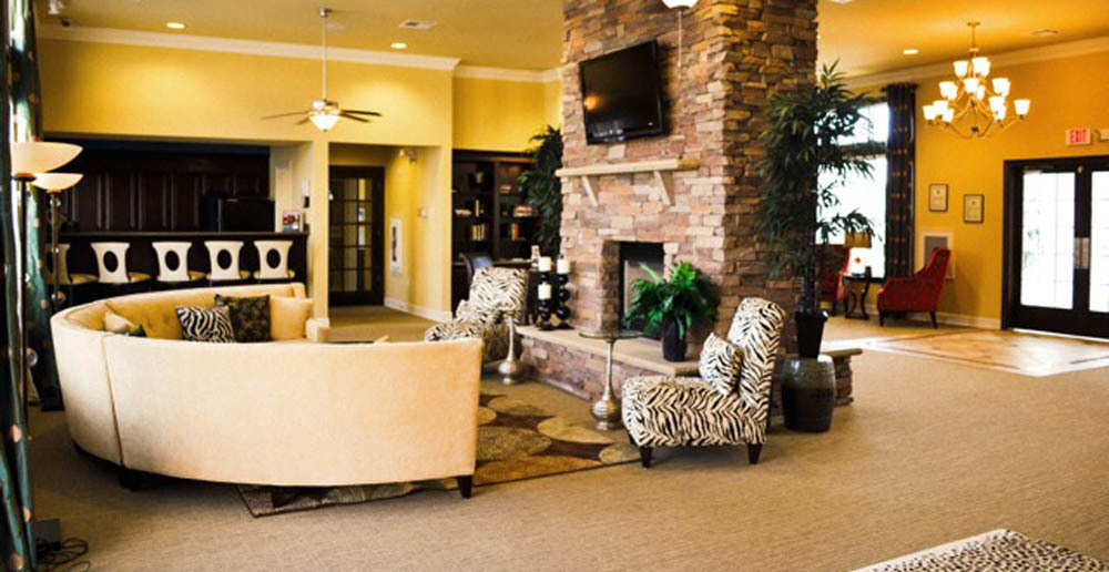 Luxury apartments lobby in fayetteville