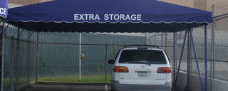 Covered parking at self storage in Burbank